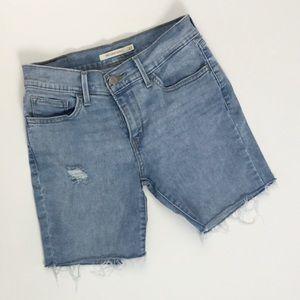 Levi's 710 Light Wash Cut Off Shorts - Sz 27